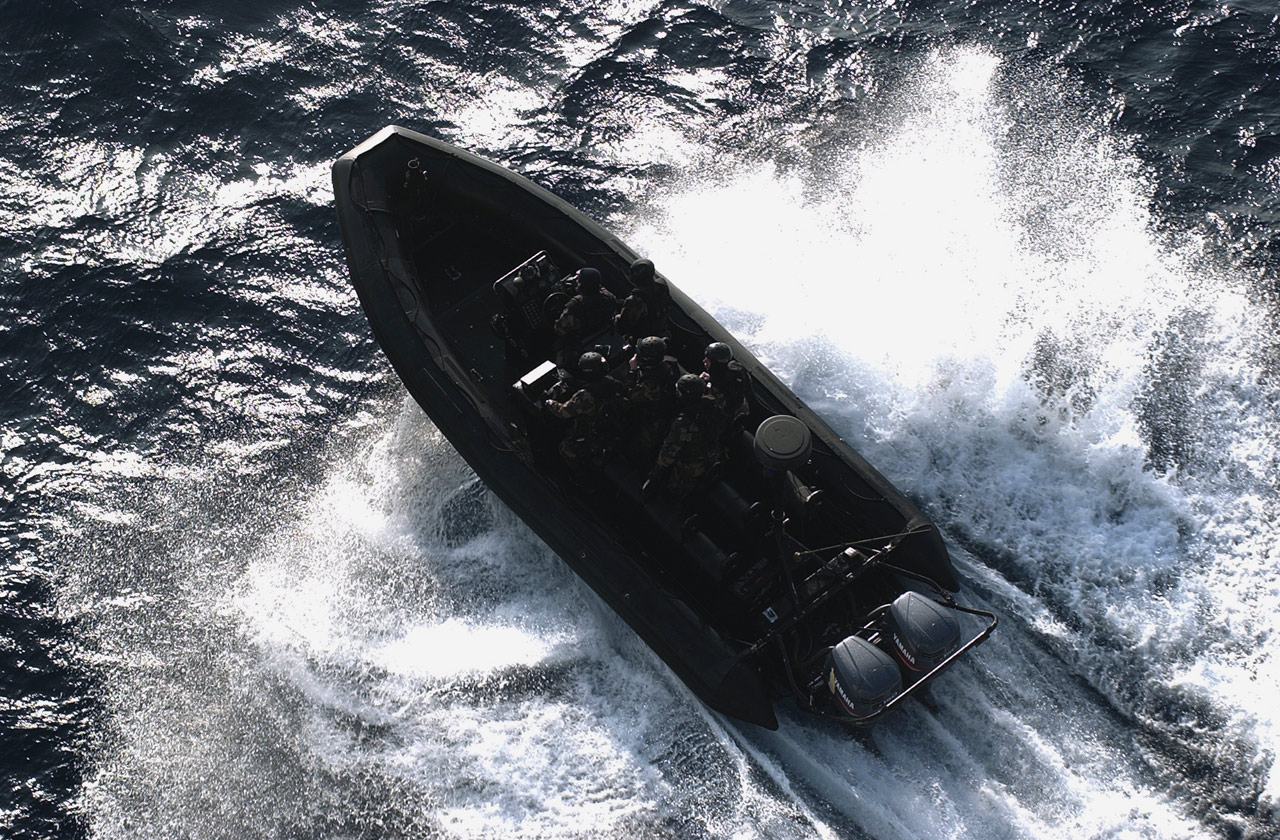 Commandos Marine à bord de leur ETRACO (PHOTOS : Marine Nationale)